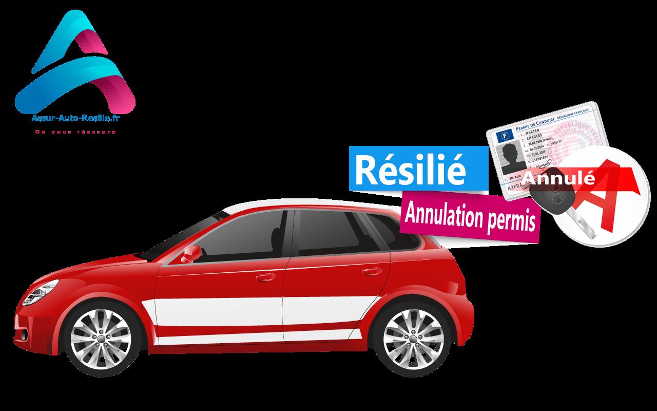 Assurance auto résilié annulation permis